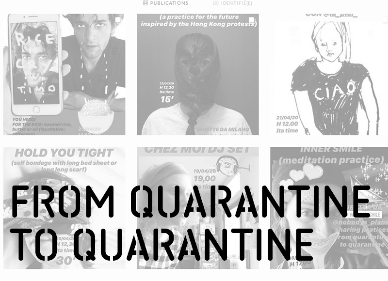from quarantine to quarantine pratiques alternatives
