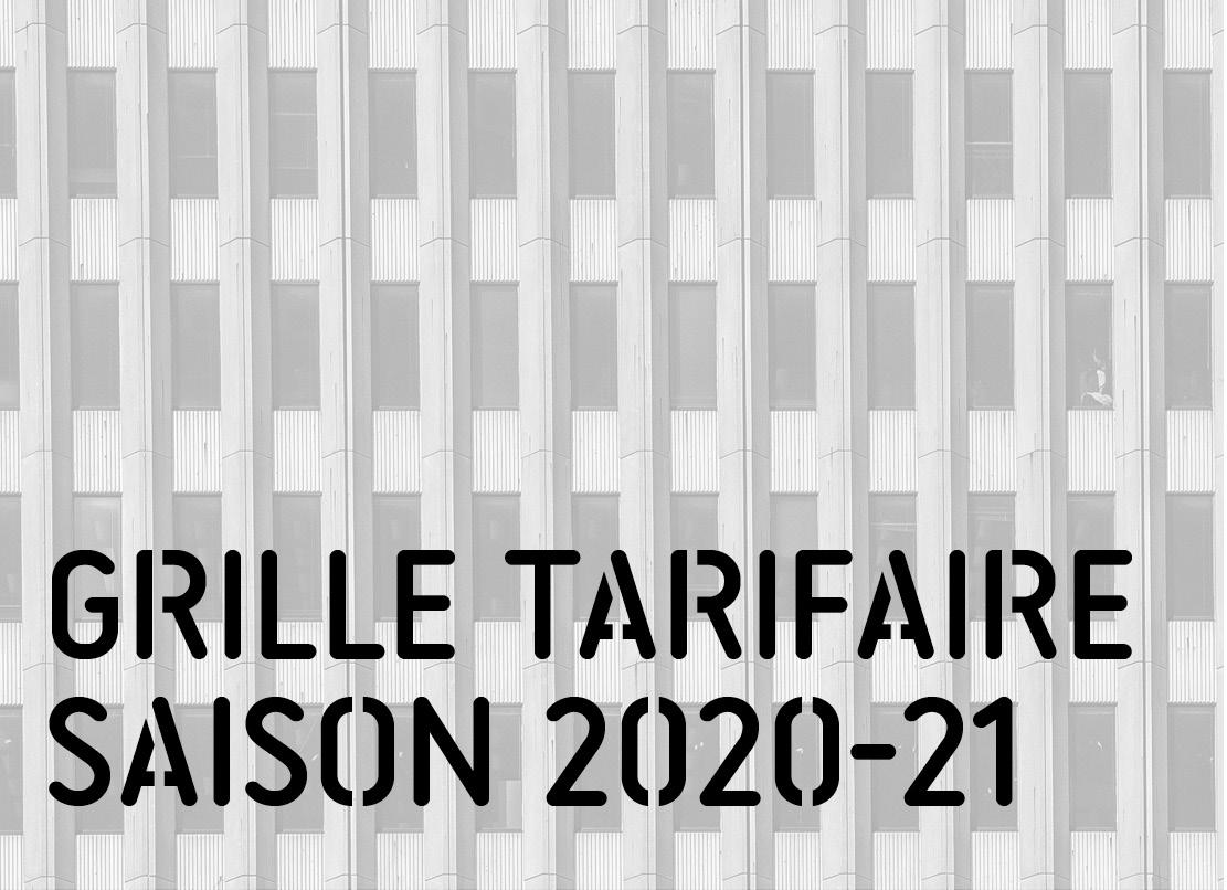Grille tarifaire 2020-21