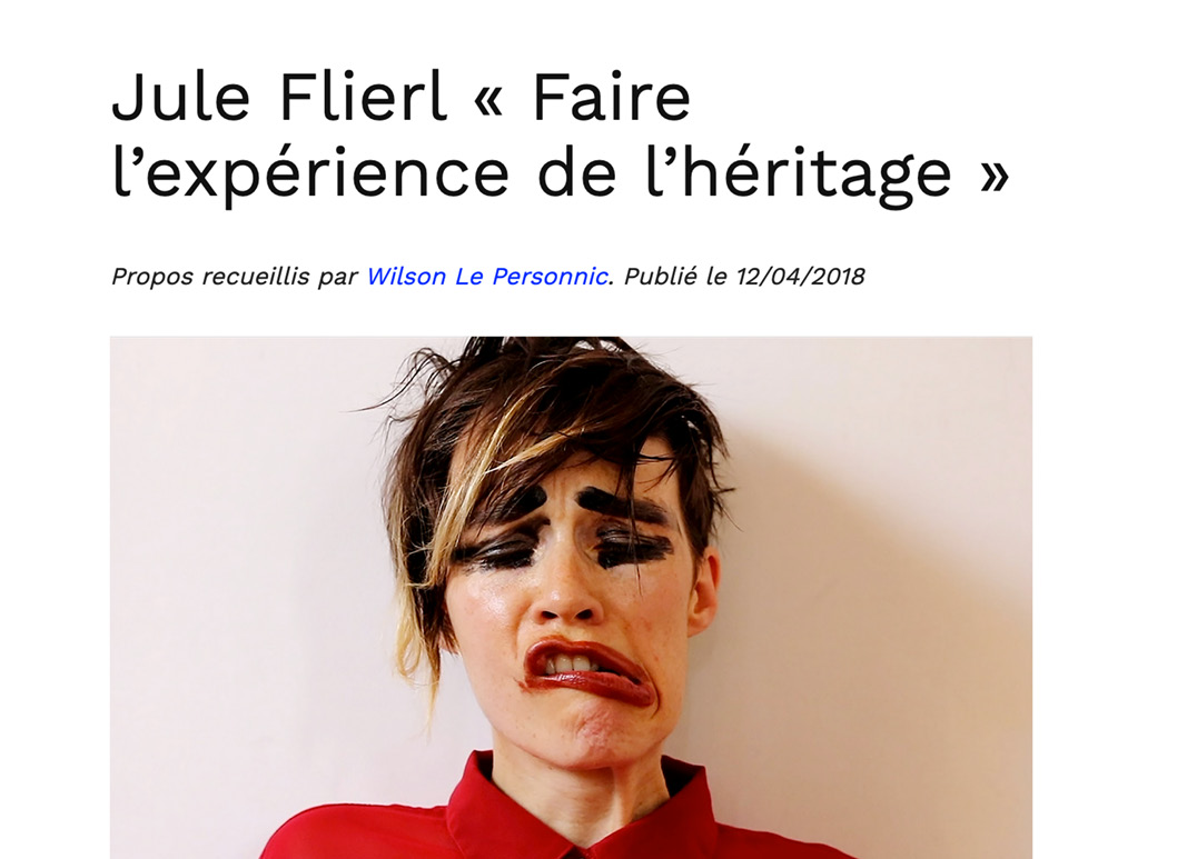 article Wilson Le Personnic Jule Flierl