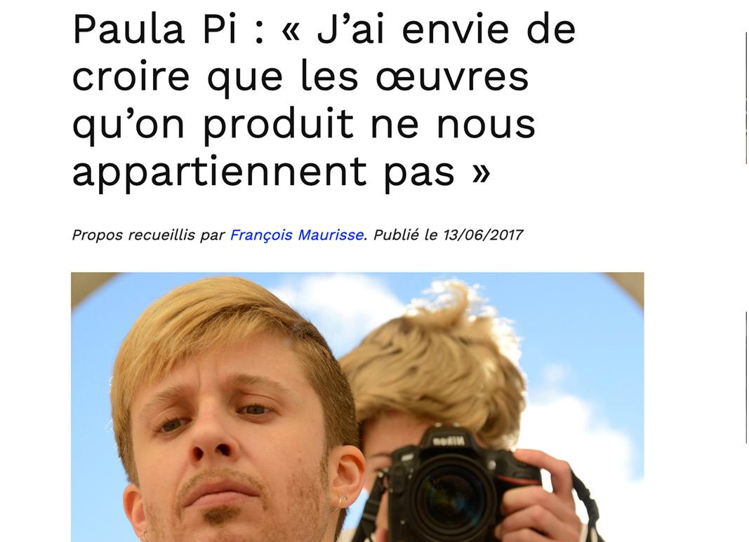 lire article Paula Pi Maculture.fr - François Maurisse