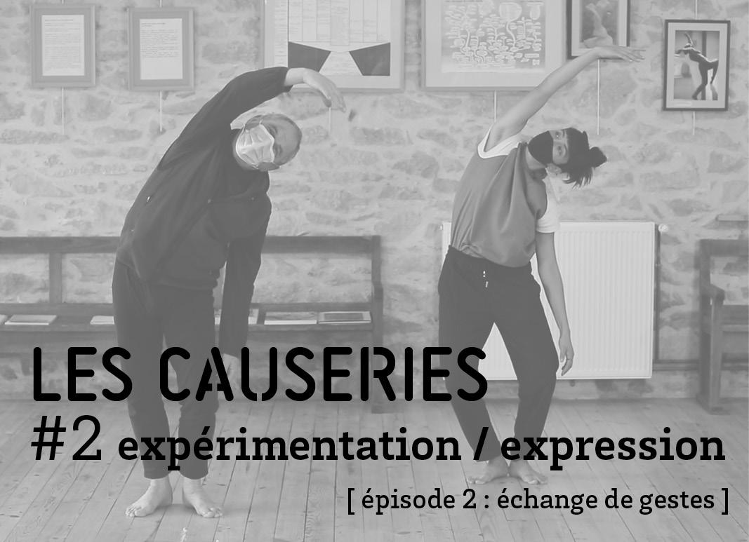Causerie 2 Expression / expérimentation - épisode 2 échange de gestes