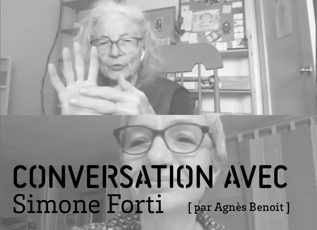 Conversation avec Simone Forti