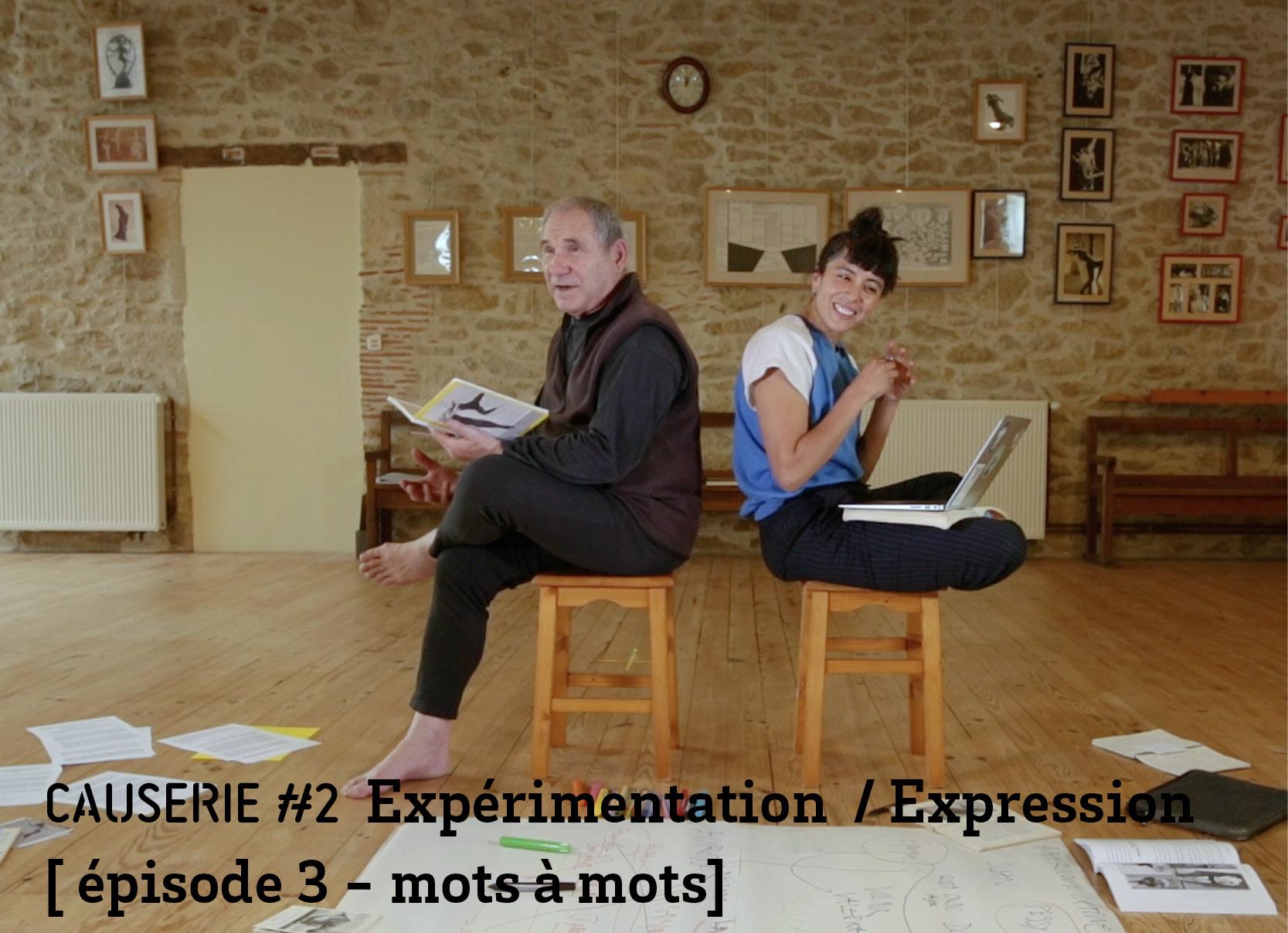 Causerie 2 Expérimentation / expression épisode 3 mots à mots